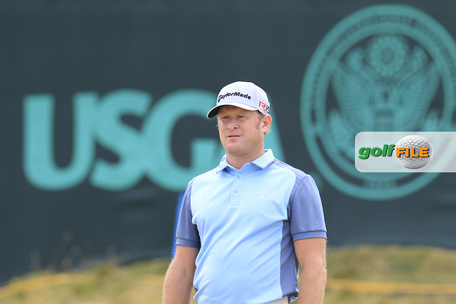 Jamie DONALDSON (WAL) at the 17th green during Thursday's Round 1 of the 2015 U.S. Open 115th National Championship held at Chambers Bay, Seattle, Washington, USA. 6/18/2015.<br /> Picture: Golffile | Eoin Clarke<br /> <br /> <br /> <br /> <br /> All photo usage must carry mandatory copyright credit (&copy; Golffile | Eoin Clarke)
