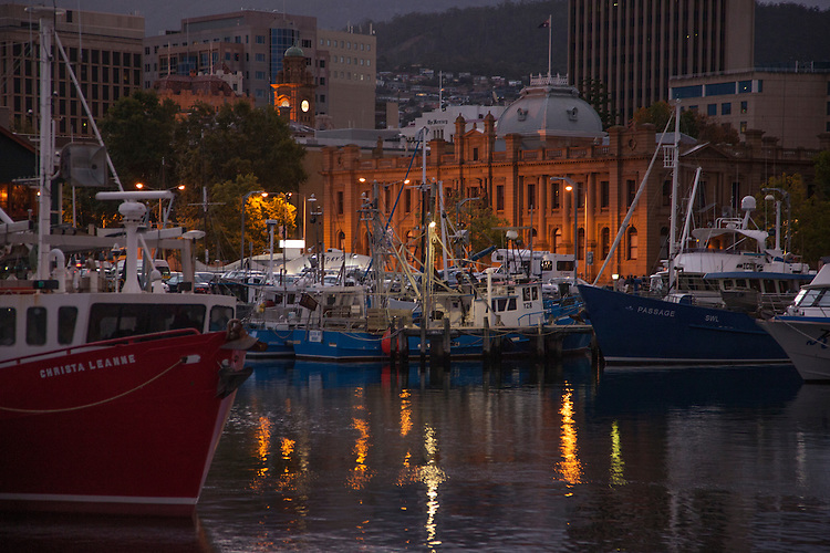 Sullivans Cove's waterfront the centerpiece of Hobart's main attractions