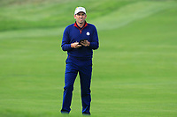 Sergio Garcia (Team Europe) on the 4th fairway during the Friday Foursomes at the Ryder Cup, Le Golf National, Ile-de-France, France. 28/09/2018.<br /> Picture Thos Caffrey / Golffile.ie<br /> <br /> All photo usage must carry mandatory copyright credit (© Golffile | Thos Caffrey)