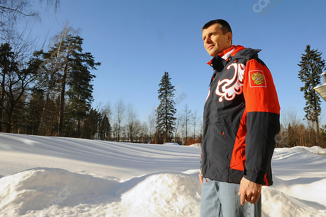 Mikhail Prokhorov, the Russian businessman, at his home outside Moscow. Russia, February 6, 2010.