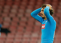 Manolo Gabbiadini during the Champions League Group  soccer match between SSC Napoli and   Dinamo Kiev  at the San Paolo  Stadium inNaples November 24, 2016