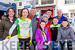 Michael O'Shea Killorglin CC was greeted by his family at the final the stage of Ras Mumhan in Killorglin on Monday Kieran Murphy Lyra McCarthy, Eugene, Catherine, Niall, Tiarnach and Aeana O'shea, and Brian Jordan