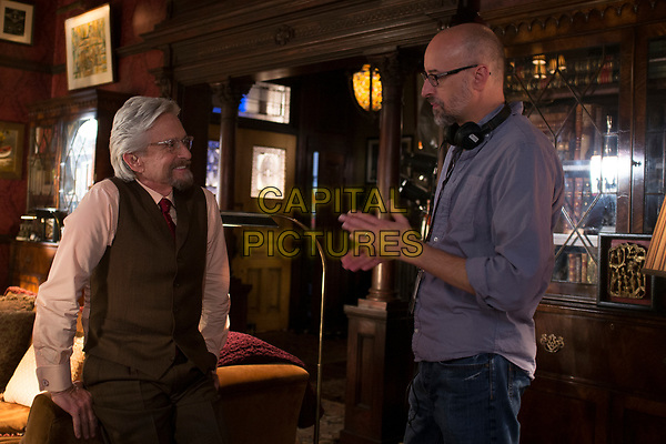 Ant-Man (2015) <br /> Director Peyton Reed and Michael Douglas (Hank Pym) on set. <br /> *Filmstill - Editorial Use Only*<br /> CAP/KFS<br /> Image supplied by Capital Pictures