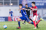 Eastern SC Midfielder Diego Eli Moreira (L) fights for the ball with Guangzhou Defender Zhang Linpeng (R) during the AFC Champions League 2017 Group G match between Eastern SC (HKG) vs Guangzhou Evergrande FC (CHN) at the Mongkok Stadium on 25 April 2017, in Hong Kong, China. Photo by Chung Yan Man / Power Sport Images