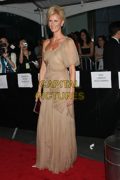 SANDRA LEE .attend the 2011 Edition of the TIME 100 Gala held at the Frederick P. Rose Hall, Home of Jazz @ Lincoln Center,  New York, NY, April 26th, 2011..full length sleeve long maxi dress beige tanned one off the shoulder  pleated silk .CAP/LNC/TOM.©LNC/Capital Pictures.
