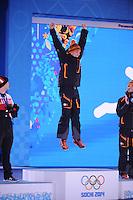 OLYMPICS: SOCHI: Medal Plaza, 13-02-2014, medaille uitreiking, 1000m Men, Stefan Groothuis (NED), ©foto Martin de Jong