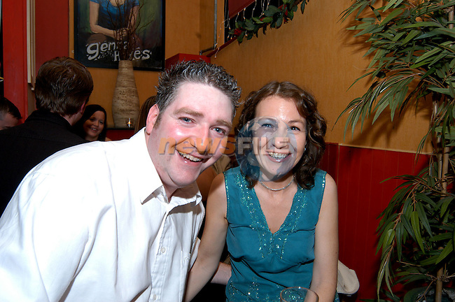 Darren and Fiona Butler Celebrating the new year in Solas. Photo: Colin Bell / Newsfile