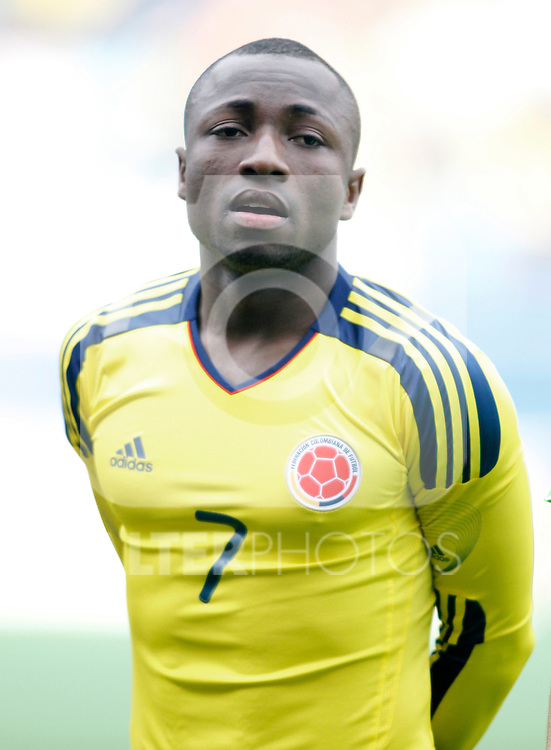 Colombia's national team Pablo Armero during international friendly. March 26, 2011. (ALTERPHOTOS/Alvaro Hernandez)
