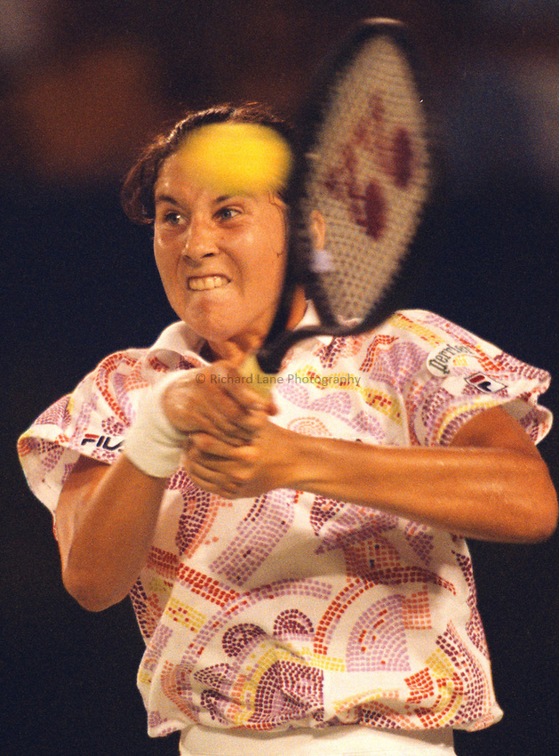 Photo. Steve Holland.Australian Open at Melbourne. 1993..Monica Seles
