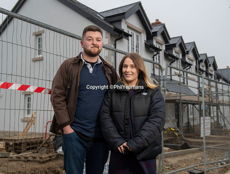 BNPS.co.uk (01202 558833)<br /> Pic: PhilYeomans/BNPS<br /> <br /> Callum Howlett( 22) and Kirsty Goddard (20) are hopeful of getting their local home.<br /> <br /> Fresh hope for locals in battle for homes against the tide of second home coastal 'ghost' villages.<br /> <br /> Nine discounted homes have been built in one of the worst areas of the country for affordable housing, bringing fresh hope to local first-time buyers.<br /> <br /> The properties are being offered for sale at 75 per cent of the market price with a strict covenant in place that they can only be sold locals.<br /> <br /> And when the time comes for the owners to sell them on, the asking price must also be 25 per cent less than their true value.<br /> <br /> The properties have been built in the so-called ghost village village of Worth Matravers on the picturesque Isle of Purbeck in Dorset.<br /> <br /> Sixty per cent of the 180 houses in the village belong to second homeowners and lay empty most of the time.
