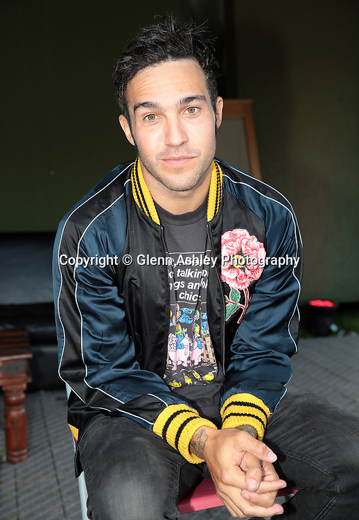 Pete Wentz from Fall Out Boy at the Leeds Festival, United Kingdom on 26 August 2016. Photo by Glenn Ashley.