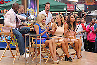 "Donald Driver, Mark Ballas, William Levy, Peta Murgatroyd, Katherine Jenkins and Cheryl Burke  form ""Dancing With the Stars"" Season 14 outside ABC's ""Good Morning America"" Times Square studio in New York, 23.05.2012..Credit: Rolf Mueller/face to face / Mediapunchinc"