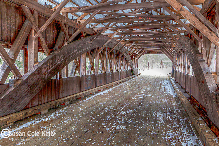 The Albany CoveredBridge crosses the Swift River in the White Mountain National Forest, New Hampshire, USA