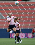 The United States' Lindsay Tarpley wearing a special pink Breast Cancer Awareness top during pregame warmups on Saturday, May 12th, 2007 at Pizza Hut Park in Frisco, Texas. The United States Women's National Team defeated Canada 6-2 in a women's international friendly.
