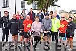 Eight cyclists from Valentia will cycle to Dublin following the same journey taken by Bernie O'Connell back in the 50's as a fundraiser for the Valentia Community Resource Centre, pictured here at their starting point on Valentia Island were front l-r; Aaron Quigley, Anthony O'Sullivan, Yvonne O'Leary, Vincent Kidd, Eileen O'Sullivan Lord Mayoress of Valentia, Fionán Murphy, Andrew Quigley, Dermot Kidd, Aine Lyne, back l-r; Adam Quigley, Aislinn Quigley, Ger O'Shea, Rosemarie O'Shea, Mary Quigley, Francis Stewart & Maura Stewart.