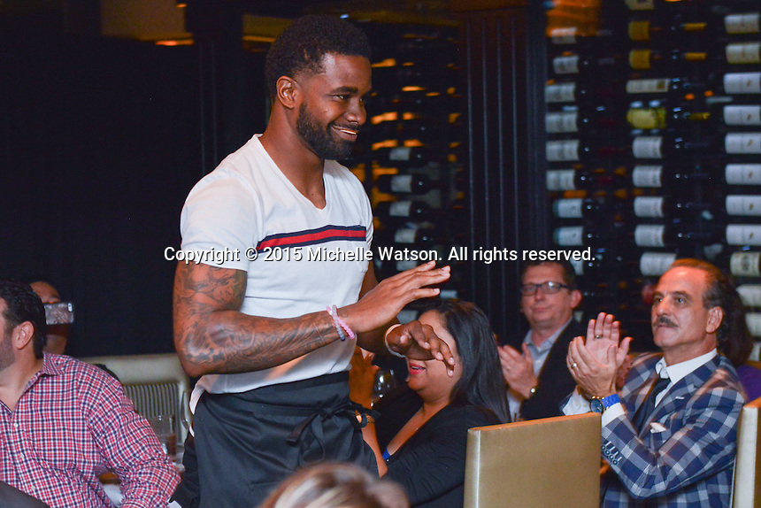 The Arian Foster Foundation hosted a fundraising event with Houston Texans teammates at Morton's Steakhouse in the Houston Galleria.