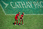 Canada vs Samoa during the HSBC Sevens Wold Series match as part of the Cathay Pacific / HSBC Hong Kong Sevens at the Hong Kong Stadium on 28 March 2015 in Hong Kong, China. Photo by Juan Manuel Serrano / Power Sport Images