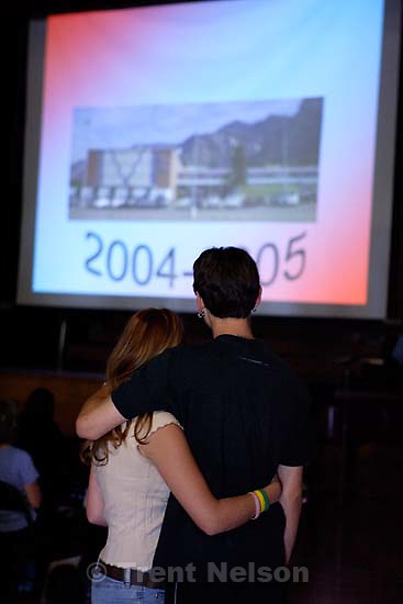 Senior class slideshow (17 seniors) at East Carbon High School. The final class to graduate before the school was closed and students were transfered to the high school in Price, Utah.; 5.25.2005<br />