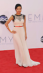 LOS ANGELES, CA - SEPTEMBER 23: Jeannie Mai arrives at the 64th Primetime Emmy Awards at Nokia Theatre L.A. Live on September 23, 2012 in Los Angeles, California.