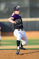 High Point Panthers starting pitcher Will Resnik (22) delivers a pitch to the plate against the Wake Forest Demon Deacons at Wake Forest Baseball Park on April 2, 2014 in Winston-Salem, North Carolina.  The Demon Deacons defeated the Panthers 10-6.  (Brian Westerholt/Four Seam Images)