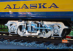 Denali Star Railcar, Trucks and Logo, Alaska Railroad, Alaska
