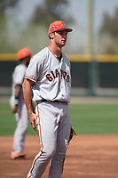 San Francisco Giants third baseman Jacob Gonzalez (41) during a Minor League Spring Training game against the Cleveland Indians at the San Francisco Giants Training Complex on March 14, 2018 in Scottsdale, Arizona. (Zachary Lucy/Four Seam Images)