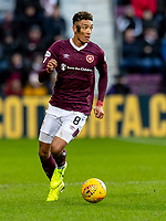 26th January 2020, Tynecastle Park, Edinburgh, Scotland; Scottish Premier League football, Hearts of Midlothian versus Rangers; Sean Clare of Hearts