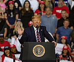 Feb 02 21 Las Vegas Trump's Keep America Great Rally. President Donald Trump during campaign rally at Las Vegas Convention Center.