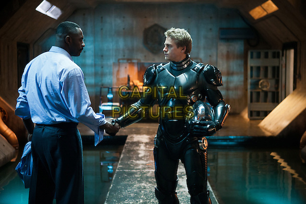 IDRIS ELBA &amp; CHARLIE HUNNAM <br /> in Pacific Rim (2013) <br /> *Filmstill - Editorial Use Only*<br /> CAP/FB<br /> Supplied by Capital Pictures