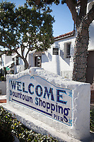 Welcome Downtown Shopping Monument On Del Mar Street San Clemente