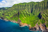 Hanakoa Valley, Na Pali Coast, Kauai, Hawaii, USA, Pacific Ocean