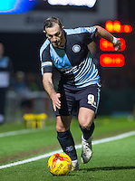 Paul Hayes of Wycombe Wanderers in action during the Sky Bet League 2 match between Wycombe Wanderers and Oxford United at Adams Park, High Wycombe, England on 19 December 2015. Photo by Andy Rowland.