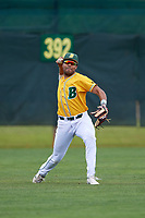 North Dakota State Bison center fielder Alec Abercrombie (3) during warmups before a game against the Central Connecticut State Blue Devils on February 23, 2018 at North Charlotte Regional Park in Port Charlotte, Florida.  North Dakota State defeated Connecticut State 2-0.  (Mike Janes/Four Seam Images)
