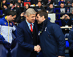 Tottenham's Mauricio Pochettino shakes hands with Arsenal's Arsene Wenger<br /> <br /> Barclays Premier League- Tottenham Hotspurs vs Arsenal  - White Hart Lane - England - 7th February 2015 - Picture David Klein/Sportimage