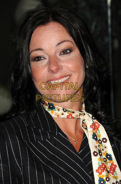 RUTHIE HENSHALL .The Evening Standard Awards, Royal Opera House, Covent Garden, London, .England, UK, 24th November 2008..portrait headshot black pinstripe jacket floral print flower print tie  .CAP/CAS.©Bob Cass/Capital Pictures