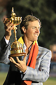 Winning European Team Player Nicolas Colsaerts (BEL) after Sunday's Singles Matches of the 39th Ryder Cup at Medinah Country Club, Chicago, Illinois 30th September 2012 (Photo Colum Watts/www.golffile.ie)