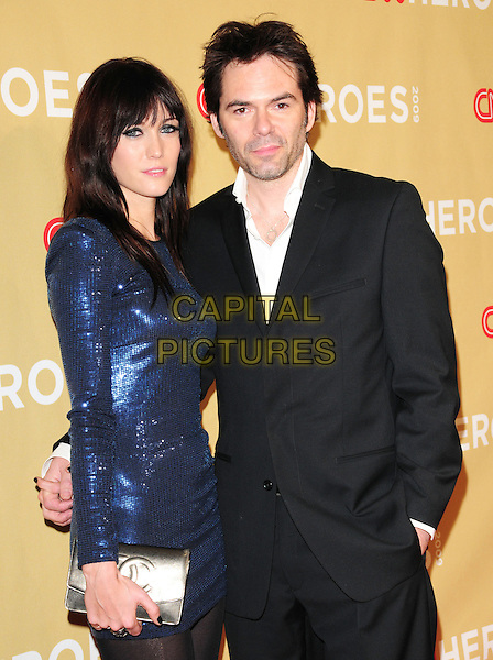 GUEST & BILLY BURKE .at The 3rd Annual CNN Heroes: An All-Star Tribute held at The Kodak Theatre in Hollywood, California, USA,  November 21st 2009                                                                   .half length dress suit jacket white shirt blue shiny sequined sequin black grey gray .CAP/RKE/DVS.©DVS/RockinExposures/Capital Pictures