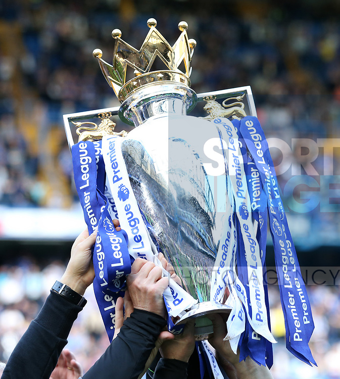 Chelsea's Premier League trophy during the Premier League match at Stamford Bridge Stadium, London. Picture date: May 18th, 2017. Pic credit should read: David Klein/Sportimage