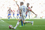 Real Madrid's Toni Kroos and Atletico de Madrid's Juanfran Torres during La Liga match between Real Madrid and Atletico de Madrid at Santiago Bernabeu Stadium in Madrid, April 08, 2017. Spain.<br /> (ALTERPHOTOS/BorjaB.Hojas)