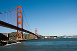 San Francisco, California, View of Golden Gate Bridge from South End Vista Point.  Photo copyright Lee Foster.  Photo # 1-casanf76397.