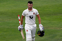 Ollie Robinson of Kent retires having scored a century of runs during Kent CCC vs Essex CCC, Friendly Match Cricket at The Spitfire Ground on 27th July 2020