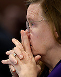 Nevada Assemblywoman Maggie Carlton, D-Las Vegas, works in committee at the Legislative Building in Carson City, Nev., on Thursday, Feb. 5, 2015. <br /> Photo by Cathleen Allison