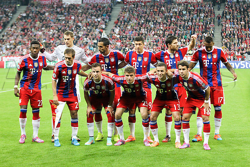17.09.2014, Allianz arena, Munich, Germany.  Champions League, FC Bayern Munich versus  Manchester City.  Bayern Munich  team lineup