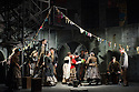 """English Touring Opera presents """"Don Giovanni"""", by Wolfgang Amadeus Mozart, at the Hackney Empire.  Directed by Lloyd Wood, with set & costume design by Anna Fleischle and lighting design by Guy Hoare. Picture shows:  Lucy Hall (Zerlina), Bradley Travis (Masetto)."""