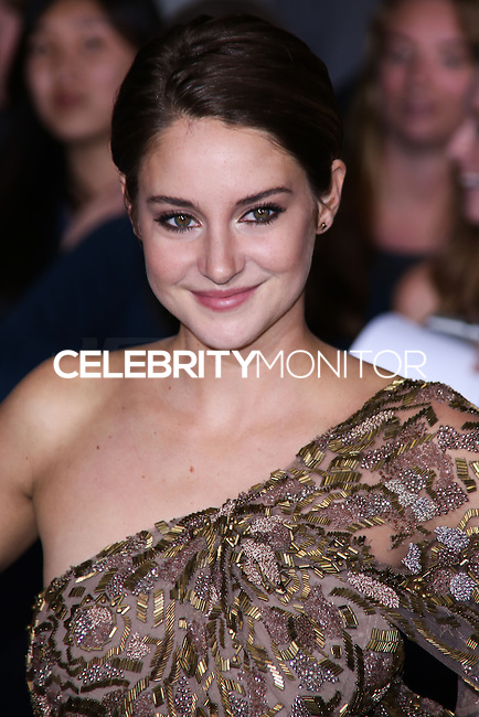 """WESTWOOD, LOS ANGELES, CA, USA - MARCH 18: Shailene Woodley at the World Premiere Of Summit Entertainment's """"Divergent"""" held at the Regency Bruin Theatre on March 18, 2014 in Westwood, Los Angeles, California, United States. (Photo by David Acosta/Celebrity Monitor)"""