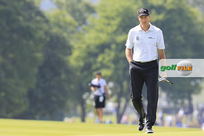 Jim Furyk (USA) on the 3rd green during Friday's Round 1 of the 2016 U.S. Open Championship held at Oakmont Country Club, Oakmont, Pittsburgh, Pennsylvania, United States of America. 17th June 2016.<br /> Picture: Eoin Clarke | Golffile<br /> <br /> <br /> All photos usage must carry mandatory copyright credit (&copy; Golffile | Eoin Clarke)