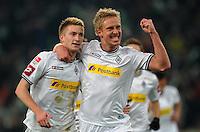 FUSSBALL   1. BUNDESLIGA   SAISON 2011/2012   18. SPIELTAG Borussia Moenchengladbach - FC Bayern Muenchen    20.01.2012 Marco Reus und Mike Hanke (v.l., beide  Borussia Moenchengladbach) jubeln nach dem 1:0