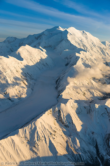 Muldrow Glacier Flows Between Carpe (left) And Pioneer (right) Ridges, Down The Western Side Of Mt. Denali, North America's Tallest Mountain, Denali National Park, Alaska.