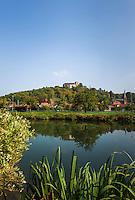Germany, Baden-Wuerttemberg, Tauber Valley, Werbach - district Gamburg: at river Tauber with castle Gamburg | Deutschland, Baden-Wuerttemberg, Taubertal, Gamburg: Ortsteil der Gemeinde Werbach im Main-Tauber-Kreis, an der Tauber mit der Burg Gamburg
