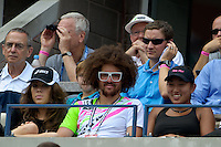 "NEW YORK, NY - September 4, 2012: Stefan 'RedFoo"" Gordy from the musical duo LMFAO attends Day 9 of the 2012 U.S. Open Tennis Championships at the USTA Billie Jean King National Tennis Center in Flushing, Queens, New York, USA. © MPI105/MediaPunch Inc. /NortePhoto.com<br />